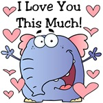 Elephant I Love You Valentine