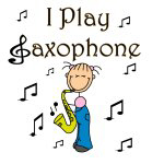I Play Saxophone Stick Figure