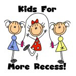 Kids for More Recess T-shirts and Gifts