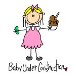 Stick Figures Baby Under Construction
