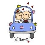 Just Married Tshirts and Gifts
