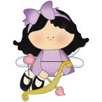 Lilac Girl Cupid Tshirts and Gifts
