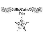 McCain Palin Stars & Floral Pattern