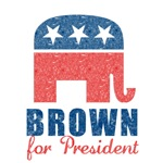 Brown for President T-Shirts