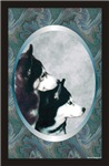 Two Siberian Huskies Unique Designer Style Gift it