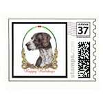 German Shorthaired Pointer Stamp Card Print Poster