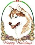Blue Eyed Siberian Husky Holiday Items & Gifts