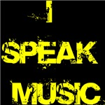 I speak music t-shirts and gifts.
