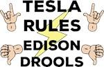 Tesla and Edison Humor