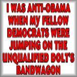 I was anti-Obama when my fellow Democrats...
