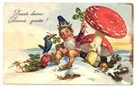Vintage Gnome Postcard