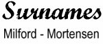 Vintage Surname - Milford - Mortensen
