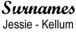 Vintage Surname - Jessie - Kellum