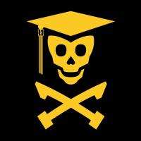 Grad Class Skully (green and yellow)