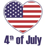Fourth of July American Heart