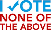 Vote None of the Above T-shirts