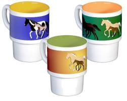 Gaited Breeds Stacking Mugs