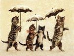 Cats, Vintage Painting