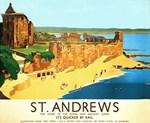St. Andrews, Golf, Vintage Poster