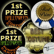 Halloween Party Prize Buttons