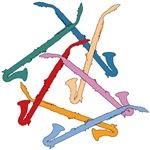 Colorful Alto Clarinets
