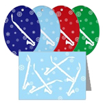 Alto Clarinet Snowflakes - Cards and Ornaments