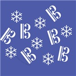 Alto/Tenor Clef Snowflakes - Cards and Ornaments