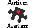 Autism Awareness (Black/Red Heart)