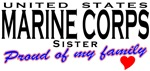 Proud US Marine Corps Sister T-shirts & Gifts