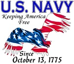 Got Freedom? Navy - Keeping America Free T-shirts