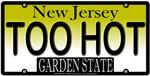 Too Hot New Jersey Vanity License Plate Design