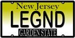 Legend New Jersey Vanity License Plate Design