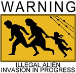Warning Illegal Alien Invasion T-shirt