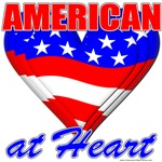 American At Heart T-shirts & Gift Designs