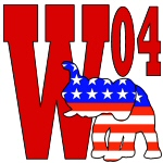 W '04 w/Republican Elephant T-shirts, Gifts & Gear