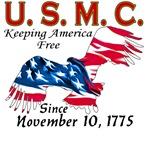 USMC Keeping America Free T-shirts & Gifts