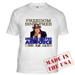 Air Force Freedom Isn't Free T-shirts & Apparel