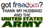 U.S. Army (Thank My Husband) T-shirts & gifts