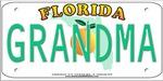 Grandma Florida Vanity Plate