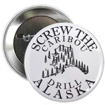 Screw Caribou (Drill Alaska) Buttons & Magnets