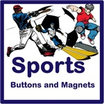 Sports buttons and magnets