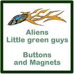 Aliens buttons and magnets
