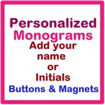Monogram buttons and magnets