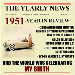 born in 1951 birthday gift