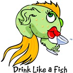 Drink Like a Fish T-Shirts and Gifts