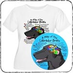 Brain Map Black Labrador Retriever T-Shirts