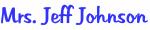 Mrs. Jeff Johnson
