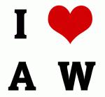 I Love A  W