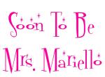 Soon To Be Mrs. Mariello