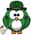 Saint Patrick's Day owl